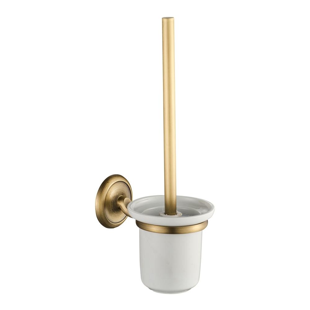 Suport si perie WC cu prindere pe perete CasaBlanca EPOQUE AEP24, finisaj bronz satinat