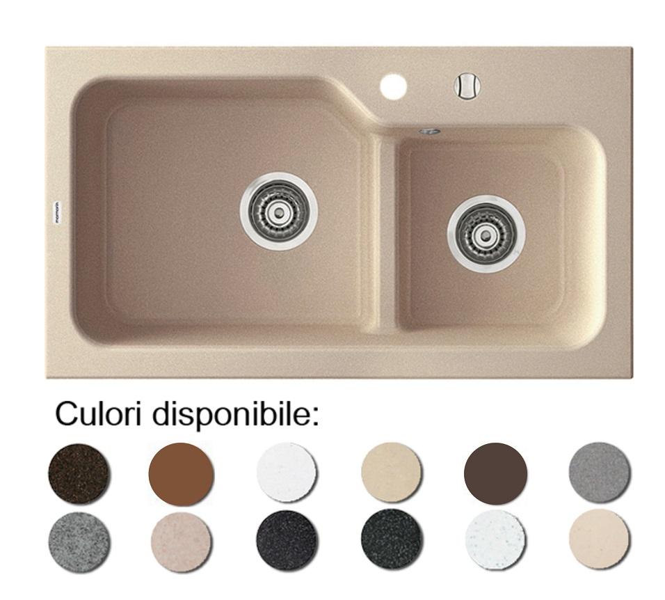 Imagine indisponibila pentru Chiuveta bucatarie granit compozit anticalcar 1,5 cuve AKO