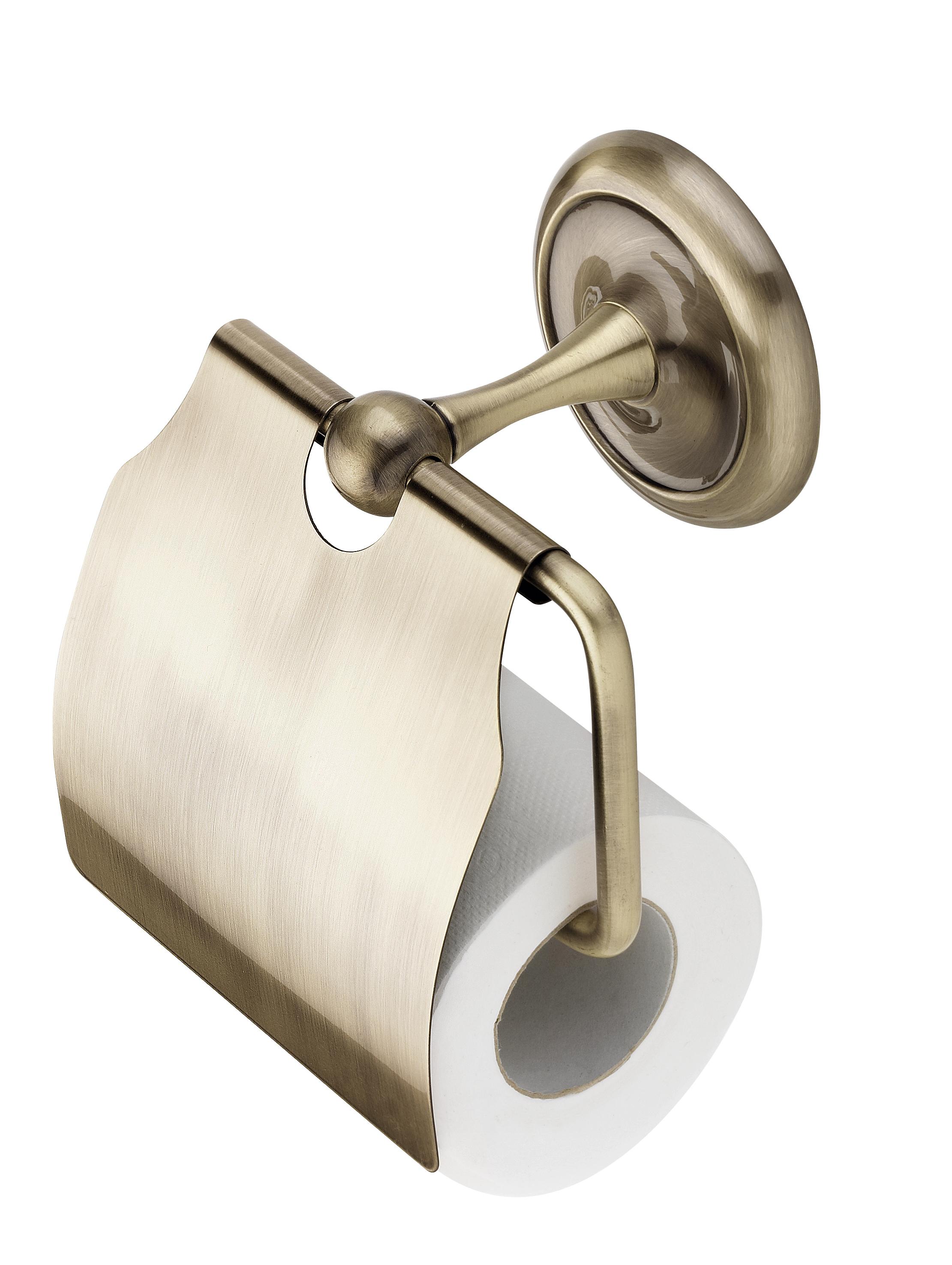 Suport hartie igienica CasaBlanca RETRO ACR15, finisaj bronz lucios imagine