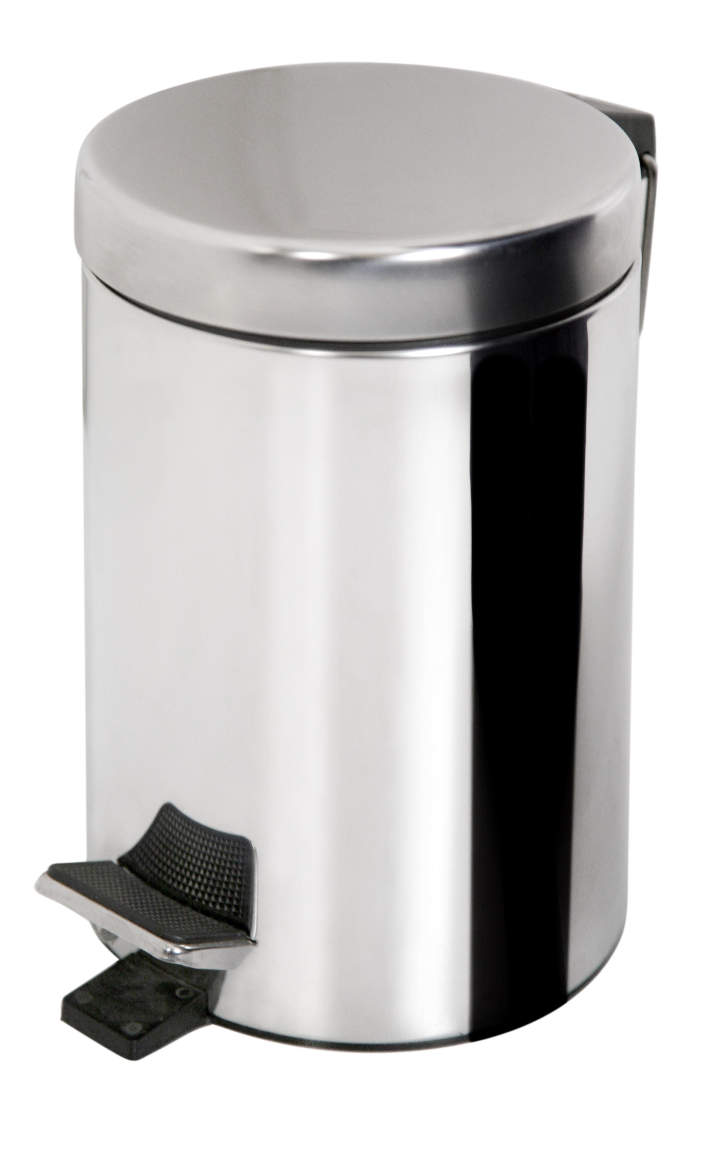 Cos de gunoi cu pedala volum 3 litri, inox, AWD02030010