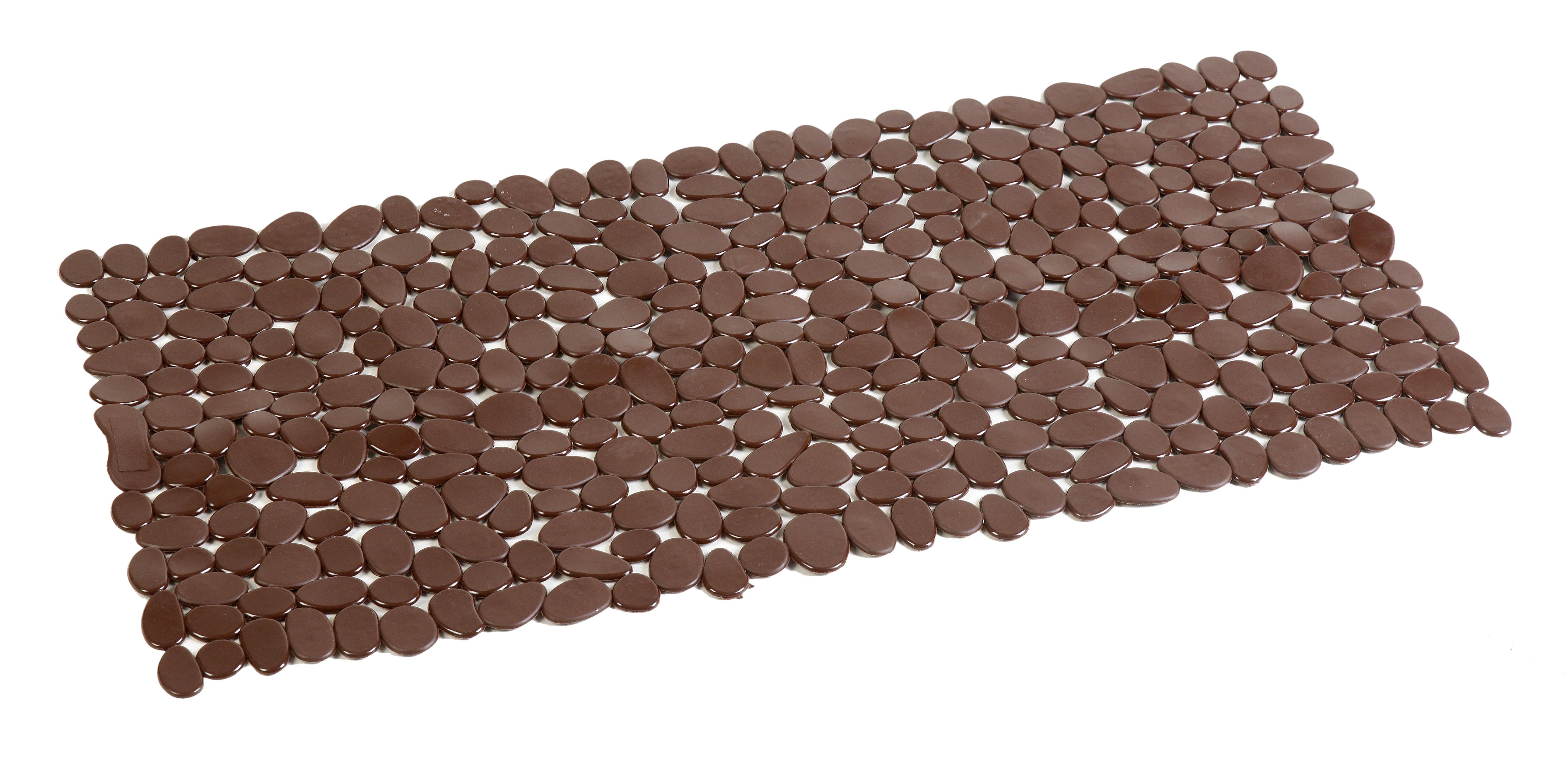 Covor antiderapant dreptunghiular 88x40cm din PVC maro AWD02090808