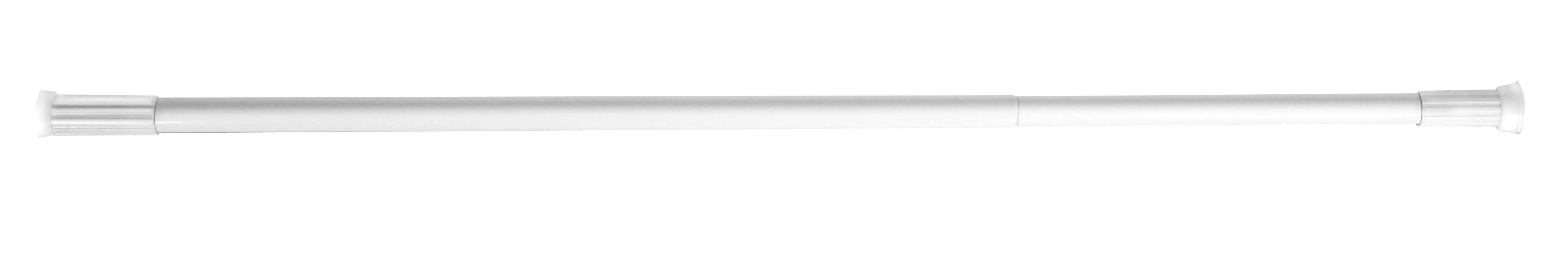 Bara alba extensibila 140-260cm, suport pentru perdea de dus - AWD02100233