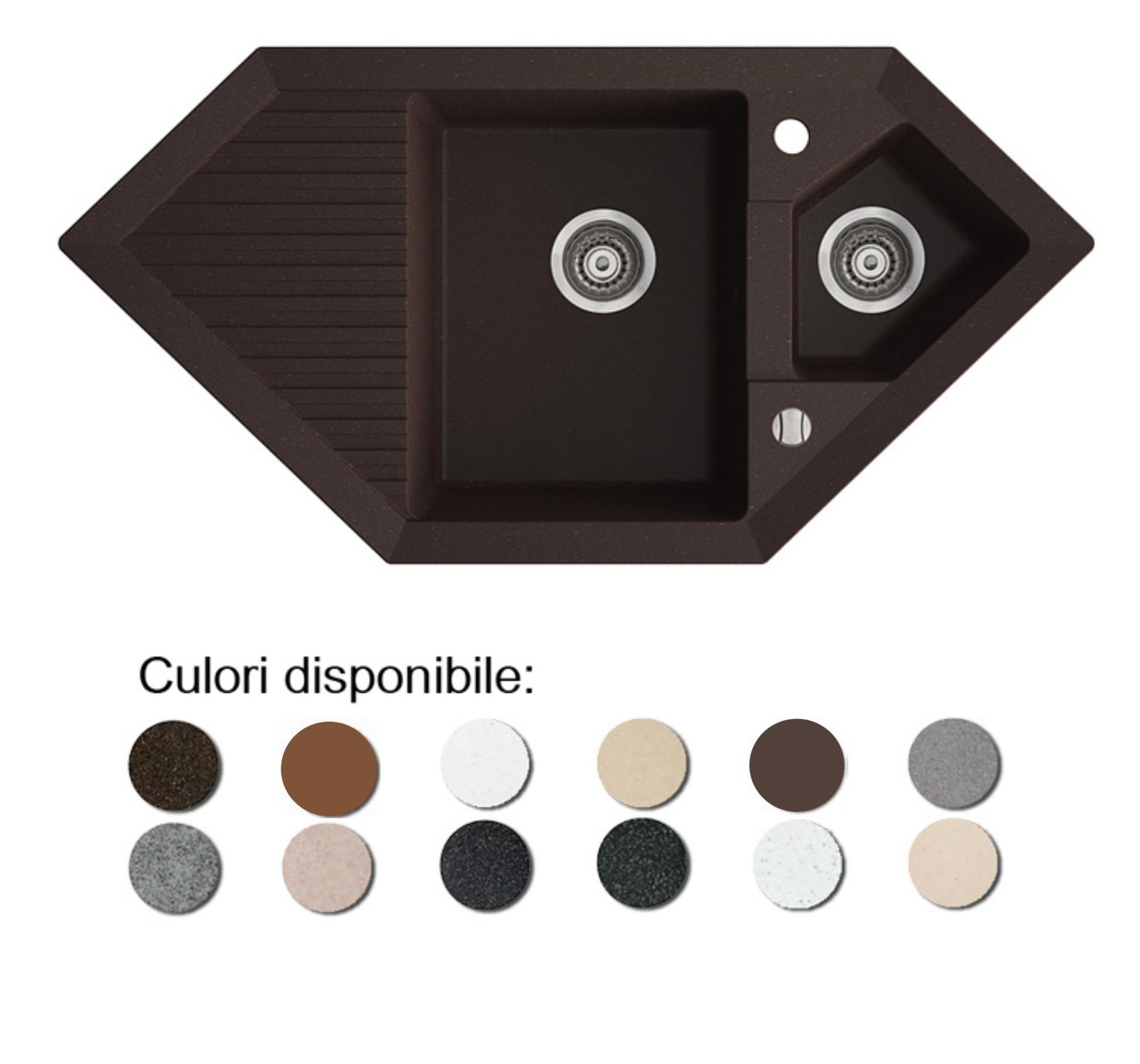 Imagine indisponibila pentru Chiuveta bucatarie granit compozit anticalcar trapezoidala 1,5 cuve si picurator CIRE