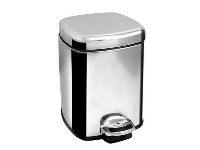 Cos de gunoi cu pedala, volum 6 litri, inox lucios, AWD02030409