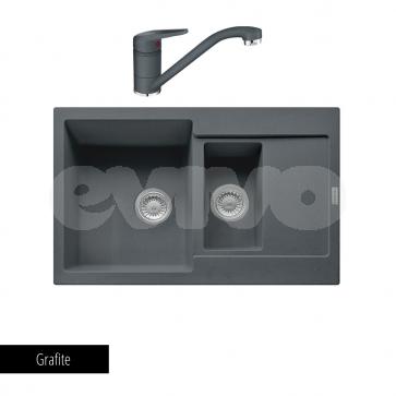 Pachet Franke Chiuvetă bucătărie MARIS MRG 651-78 + Baterie chiuvetă bucătărie Novara Plus Grafite