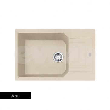 Chiuveta bucatarie reversibila 1 cuva si picurator Fragranite Franke URBAN UBG 611-78L-avena