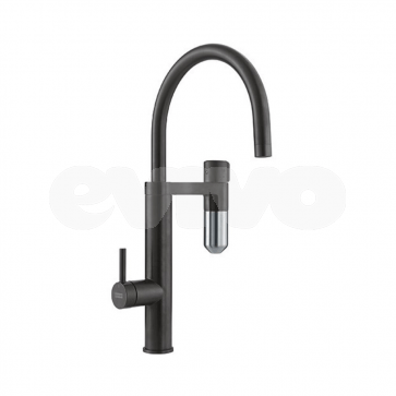 Baterie chiuveta bucatarie cu sistem de filtrare apa Franke VITAL black matt