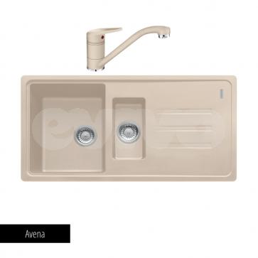 Pachet Franke Chiuvetă bucătărie MALTA BSG 651-97 + Baterie chiuvetă bucătărie Novara Plus Avena