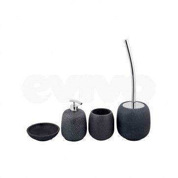 Set de accesorii pentru baie Metaform AFRA Stone Grey