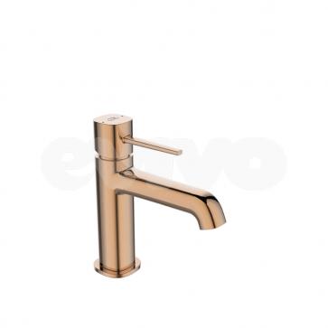 Baterie lavoar monocomanda Laveo POLLA BAP_822D, auriu rose