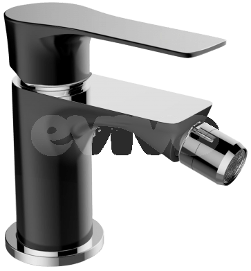 Baterie sanitara de culoare neagra pentru bideu CasaBlanca LAVEO BLV6-N. Design modern in baie.