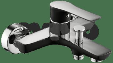Baterie sanitara de culoare neagra pentru cada, CasaBlanca Laveo NEGRU BLV1-N
