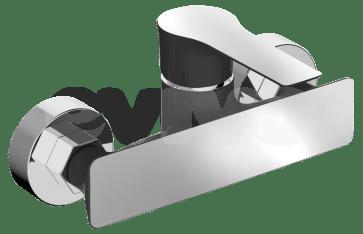 Baterie sanitara pentru dus, culoare neagra, Casablanca LAVEO. Design modern.