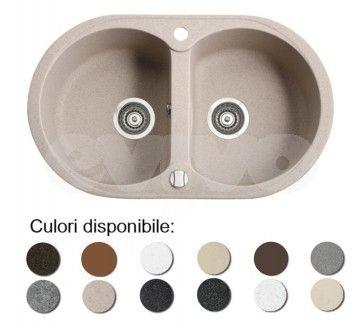 Chiuveta bucatarie granit compozit anticalcar 2 cuve DURO