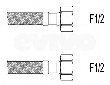 "Racord flexibil apa i-i, 1/2""x1/2"", 40 cm Techman PWS3"