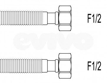 "Schita racord flexibil gofrat apa F1/2""xF1/2"", 30 cm Techman GWS2"