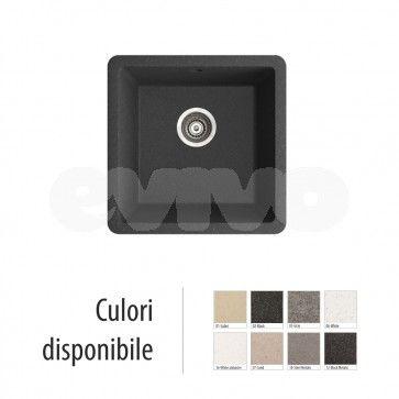 Chiuveta bucatarie granit compozit incastrabila, anticalcar 1 cuva patrata FADO / FEDERICA