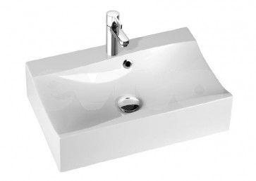 lavoar baie dreptunghiular alb lucios Irina