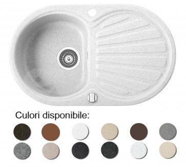 Chiuveta bucatarie granit compozit anticalcar 1 cuva si un picurator KORUND