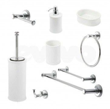 Set de accesorii pentru baie cu design retro Metaform IMPERO