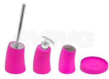 Set de accesorii pentru baie Metaform MOBI Fuchsia