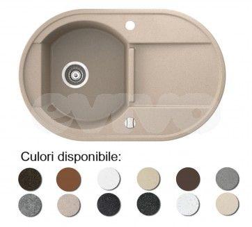 Chiuveta bucatarie granit compozit anticalcar 1 cuva si un picurator OTAGO