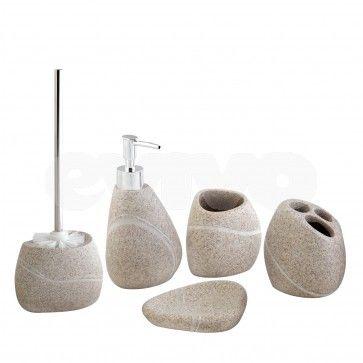 Set de accesorii pentru baie Hypo ROCK aspect piatra