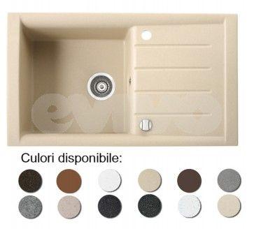 Culori chiuveta bucatarie granit compozit anticalcar 1 cuva si un picurator PROFIR