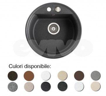 Chiuveta bucatarie granit compozit anticalcar 1 cuva rotunda TANAT