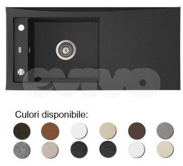 Chiuveta bucatarie granit compozit anticalcar 1 cuva si un picurator TESSA / TABITHA