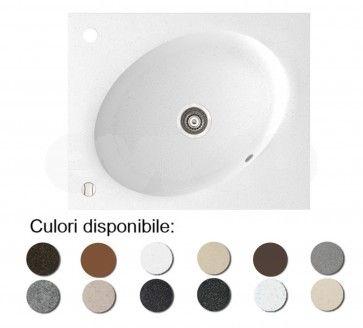 Chiuveta bucatarie granit compozit anticalcar 1 cuva ovala TONO