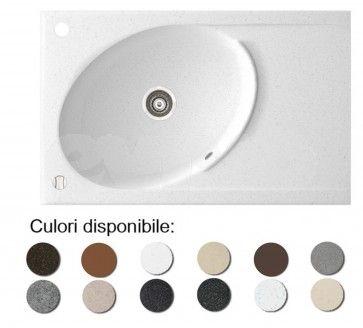 Chiuveta bucatarie granit compozit anticalcar 1 cuva ovala si un picurator TONO