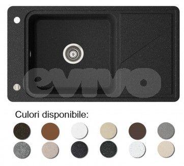 Chiuveta bucatarie granit compozit anticalcar 1 cuva si un picurator TORRO 900