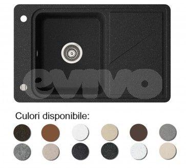 Chiuveta bucatarie granit compozit anticalcar 1 cuva si un picurator TORRO 800