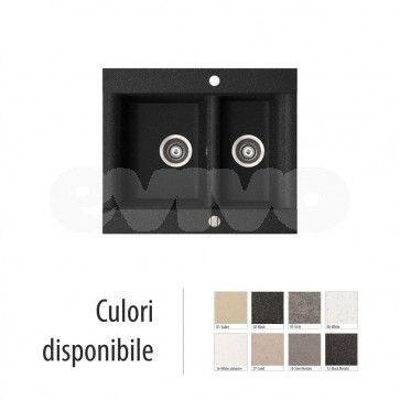 Chiuveta bucatarie granit compozit anticalcar 1,5 cuve VOGA / VANESSA