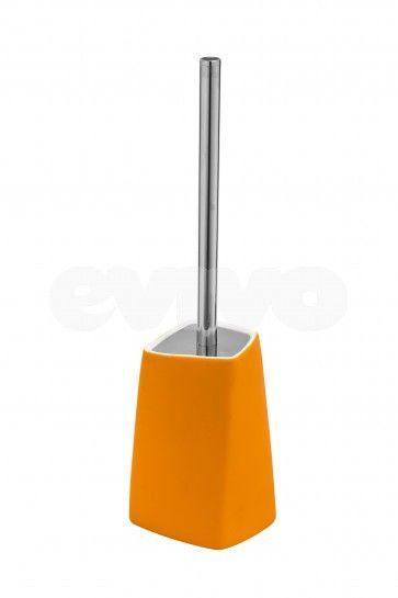 Suport si perie WC Metaform WALLI Orange