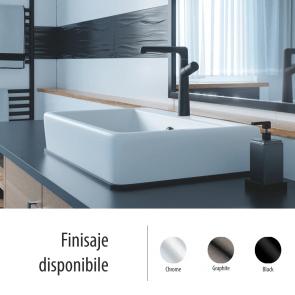 Baterie sanitara baie/bucatarie Laveo PRETTO, negru satinat