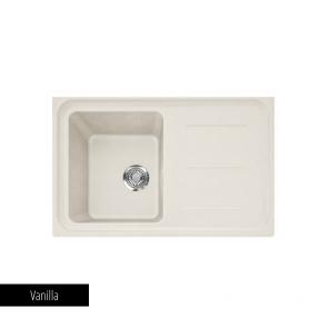 Chiuvetă bucătărie 1 cuvă și picurător Fragranit Franke IMPACT IMG 611_vanilla