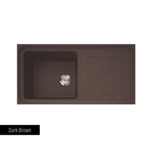 Chiuvetă bucătărie 1 cuvă și picurător Fragranit Franke IMPACT IMG 611-L