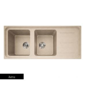 Chiuvetă bucătărie 2 cuve și picurător Fragranit Franke IMPACT IMG 621