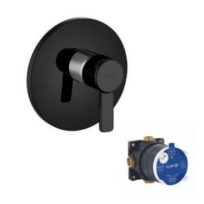Baterie duș KLUDI Zenta Black & White încastrată NEGRU