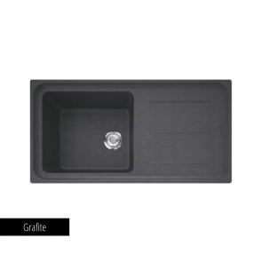 Chiuvetă bucătărie 1 cuvă și picurător Fragranit Franke IMPACT IMG 611-L_grafite