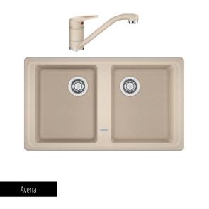 Pachet Franke Chiuvetă bucătărie BASIS BFG 620-86 + Baterie chiuvetă bucătărie Novara Plus Avena