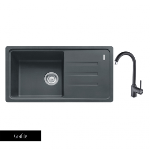 Pachet Franke Chiuvetă bucătărie MALTA BSG 611-78 + Baterie chiuvetă bucătărie Pola Grafite