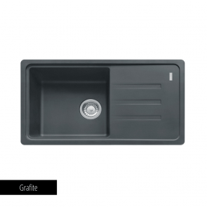 Chiuvetă bucătărie 1 cuvă și 1 picurător Fragranit Franke MALTA BSG 611-78_grafite