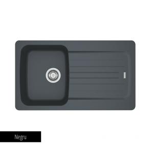Chiuveta bucatarie 1 cuva si 1 picurator Tectonite Franke AVETA AVD 611-86_negru