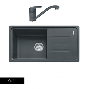 Pachet Franke Chiuvetă bucătărie MALTA BSG 611-78 + Baterie chiuvetă bucătărie Novara Plus Grafite