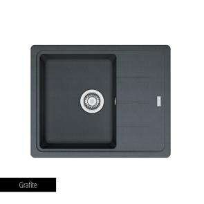 Chiuvetă bucătărie 1 cuvă și picurător Fragranit Franke BASIS BFG 611-62_grafite