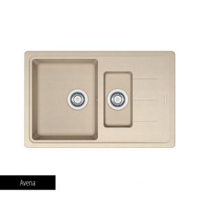 Chiuvetă bucătărie 1 cuvă mare, 1 cuvă mică și picurător Fragranit Franke BASIS BFG 651-78