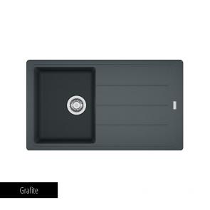 Chiuvetă bucătărie 1 cuvă și 1 picurător Fragranit Franke BASIS BFG 611-86_grafite